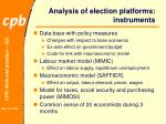 analysis of election platforms instruments