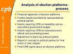analysis of election platforms process