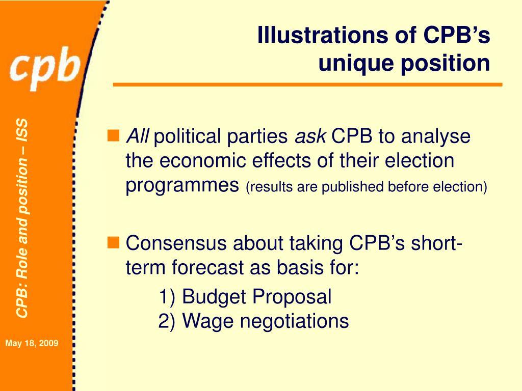 Illustrations of CPB's