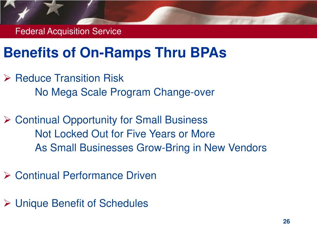 Benefits of On-Ramps Thru BPAs