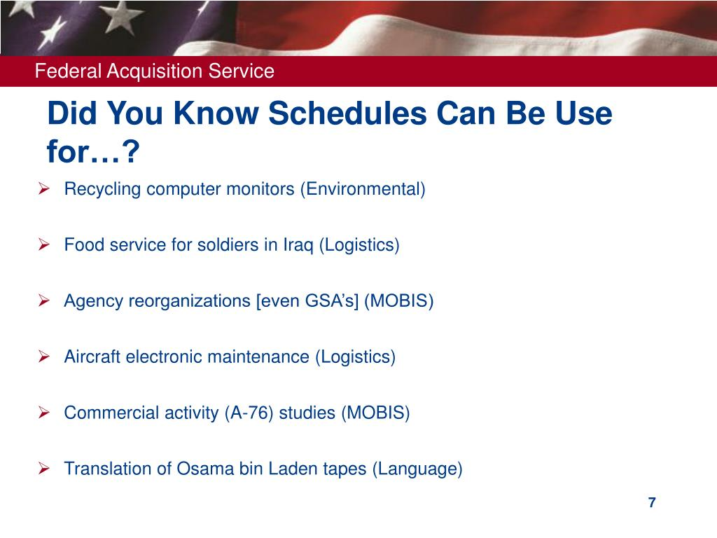 Did You Know Schedules Can Be Use for…?