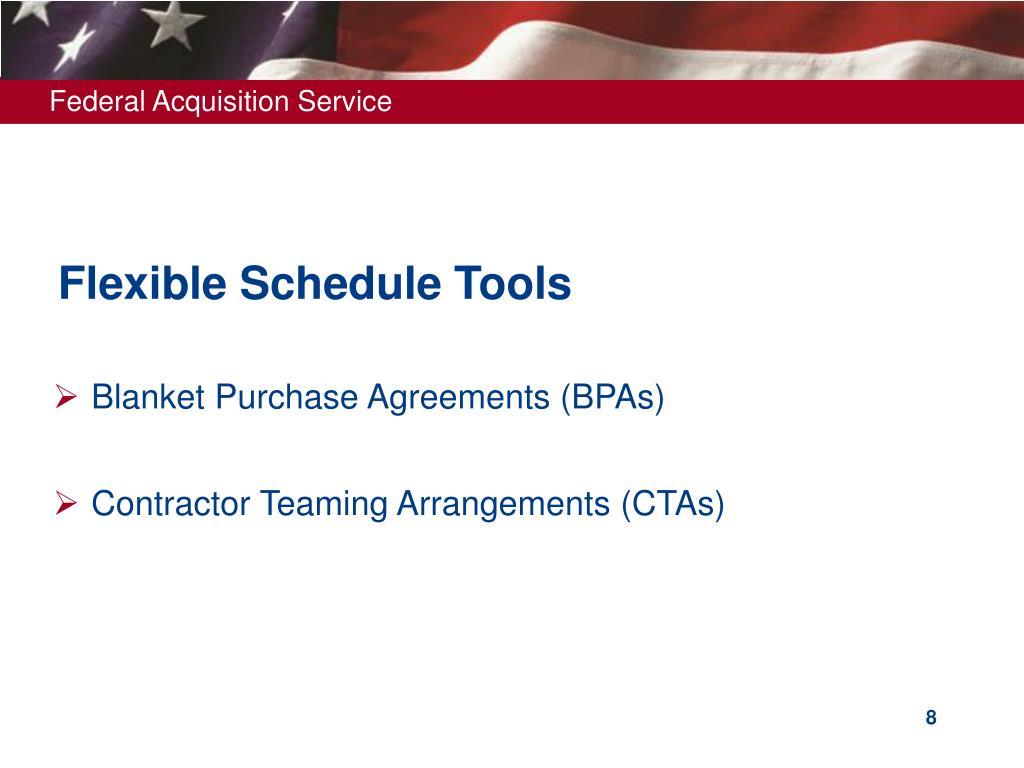 Flexible Schedule Tools