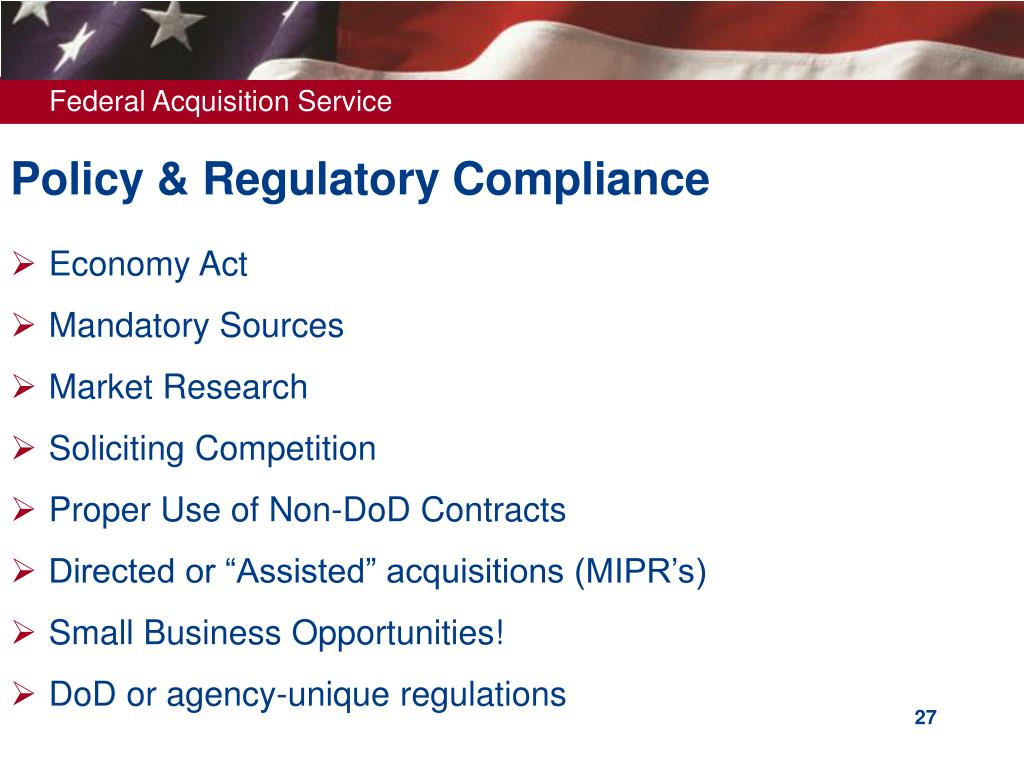Policy & Regulatory Compliance