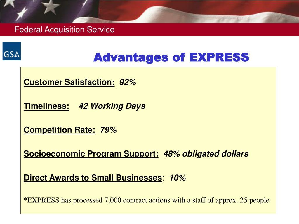 Advantages of EXPRESS