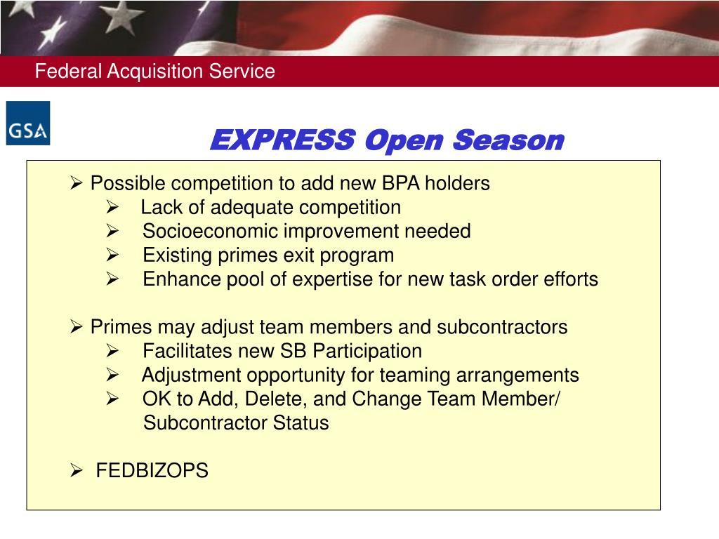 EXPRESS Open Season