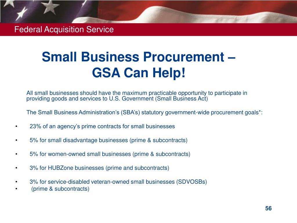 Small Business Procurement –