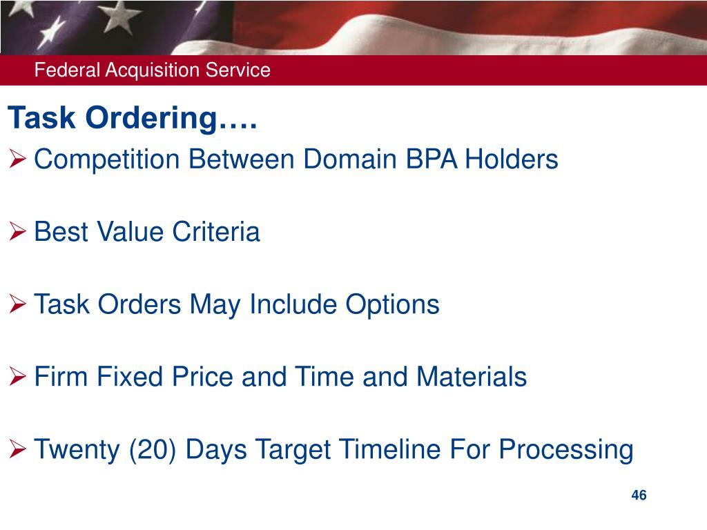 Task Ordering….