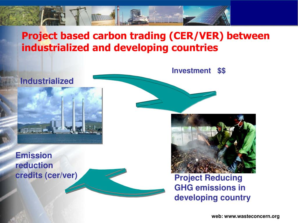 Project based carbon trading (CER/VER) between industrialized and developing countries