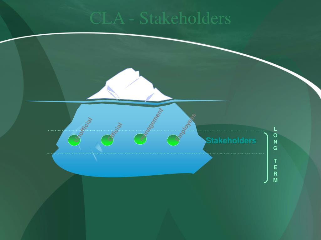 CLA - Stakeholders