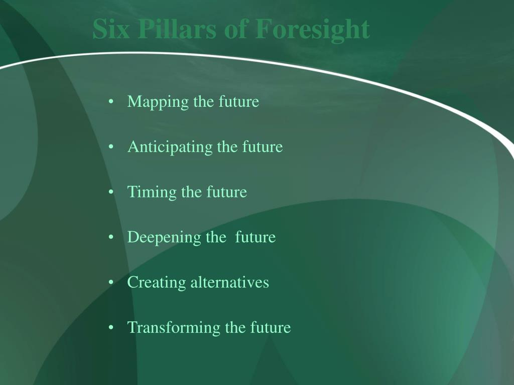 Six Pillars of Foresight