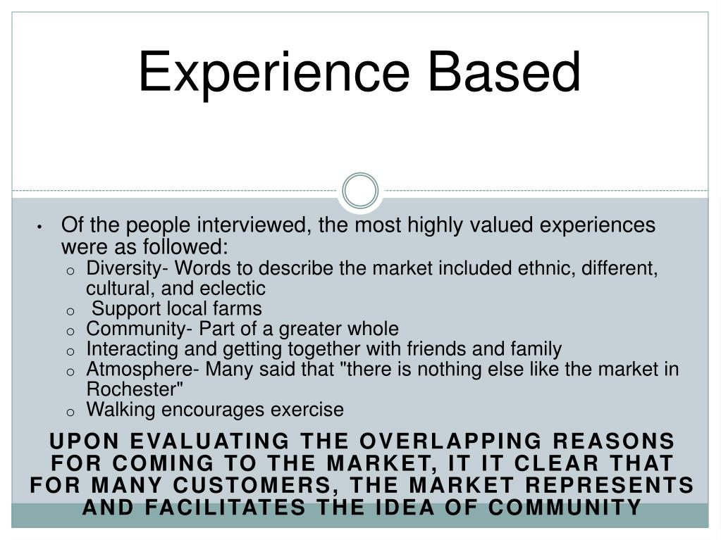 Experience Based