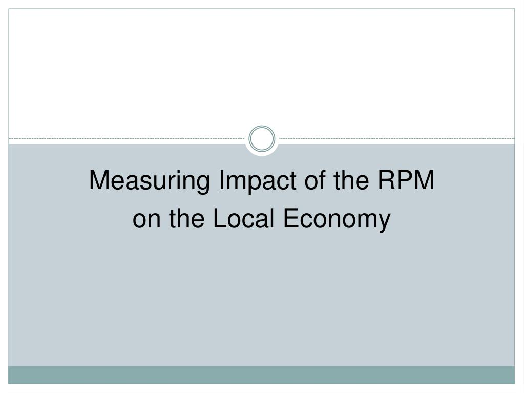 Measuring Impact of the RPM