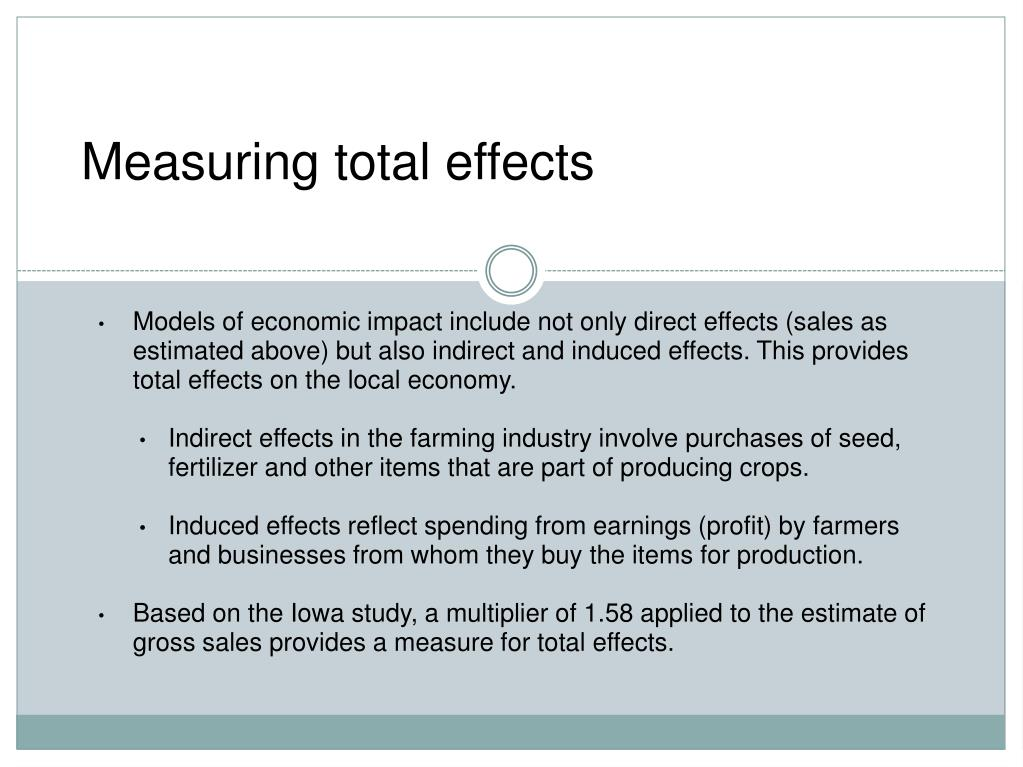 Measuring total effects