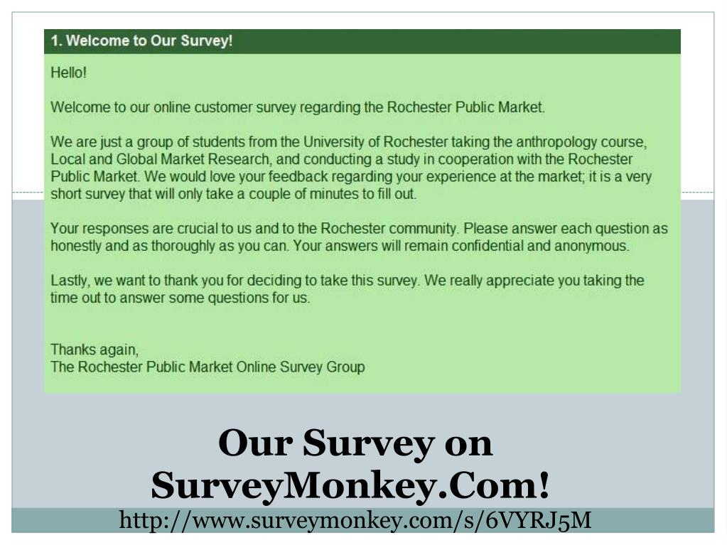 Our Survey on SurveyMonkey.Com!