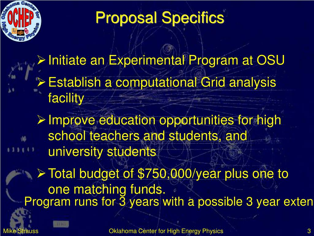 Proposal Specifics