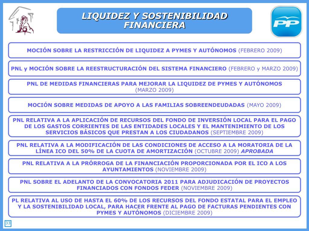 LIQUIDEZ Y SOSTENIBILIDAD FINANCIERA