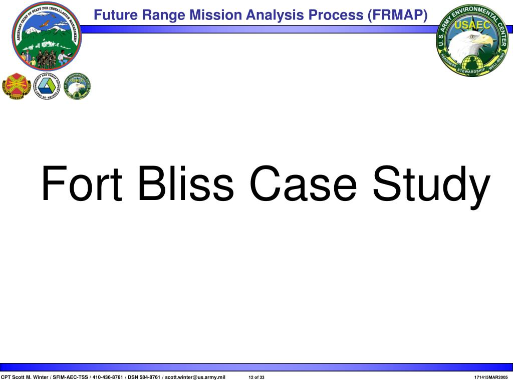 Fort Bliss Case Study