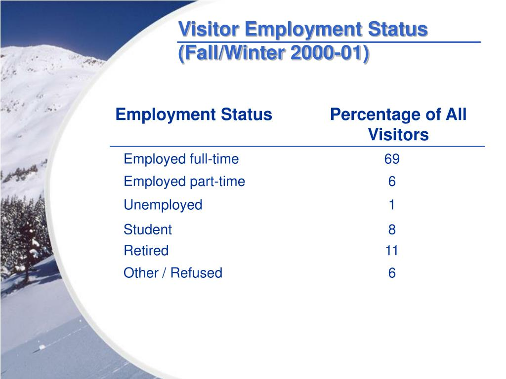 Visitor Employment Status