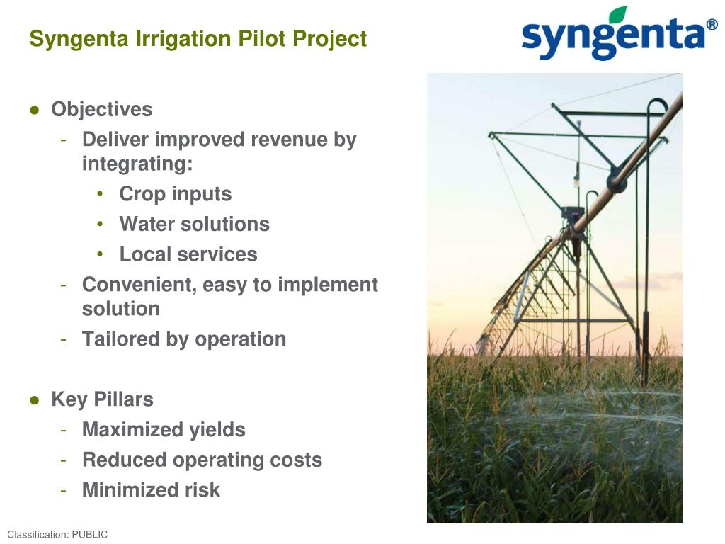 Syngenta Irrigation Pilot Project