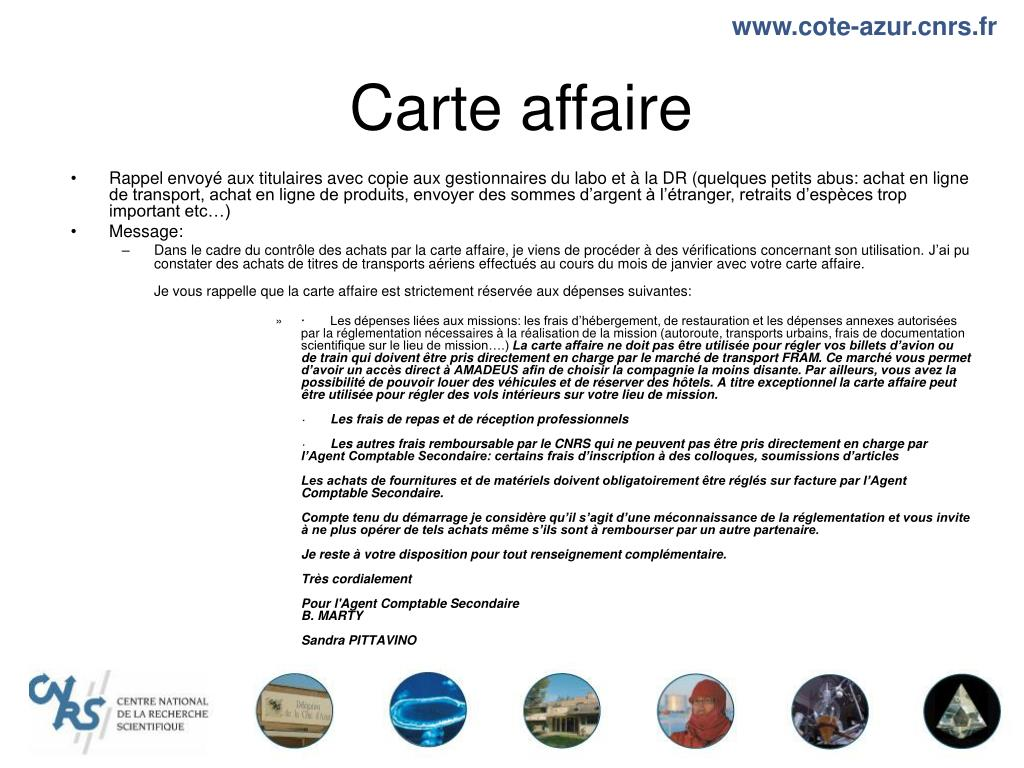 Carte affaire