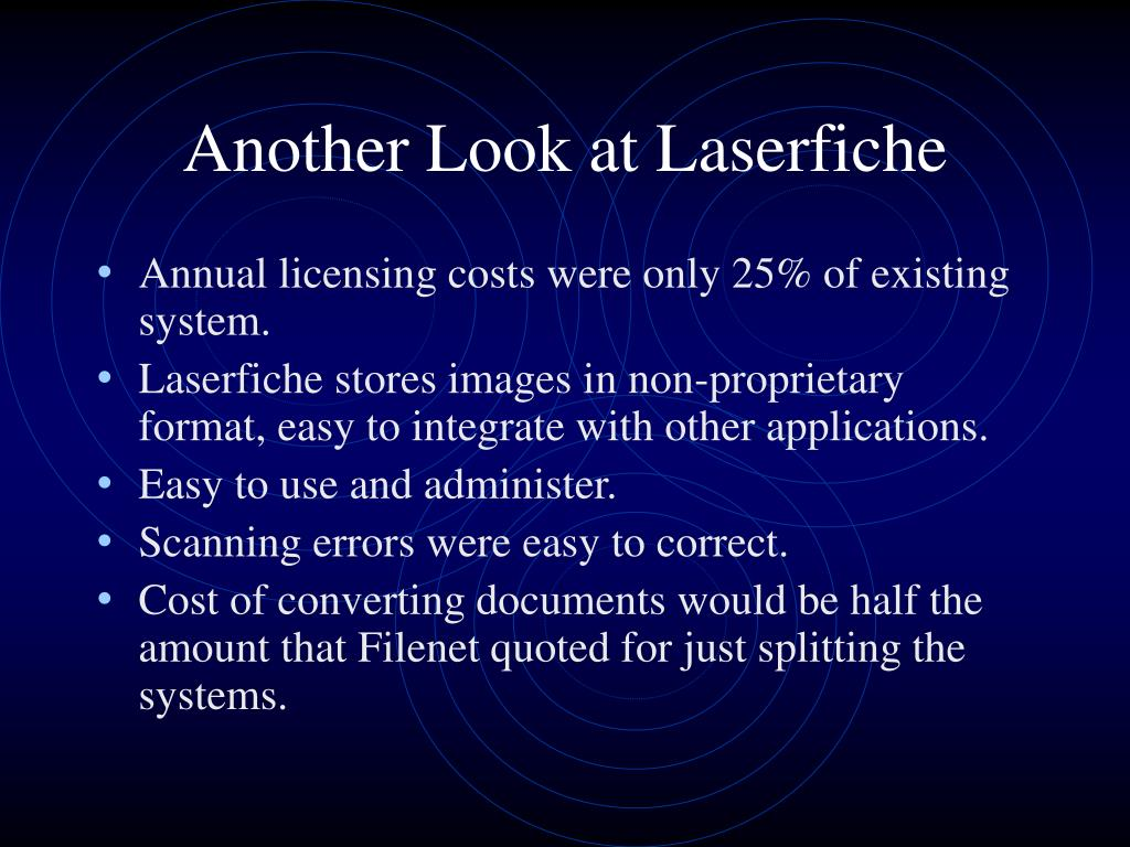 Another Look at Laserfiche