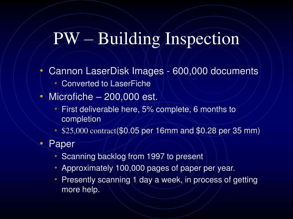 PW – Building Inspection