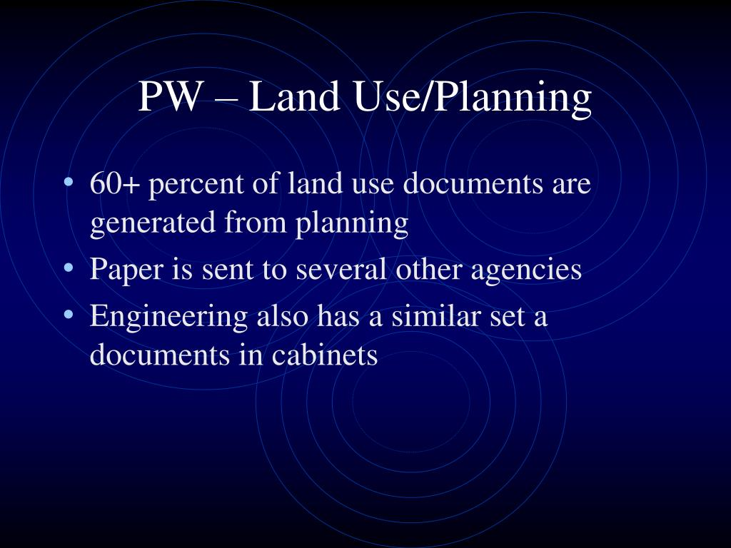 PW – Land Use/Planning