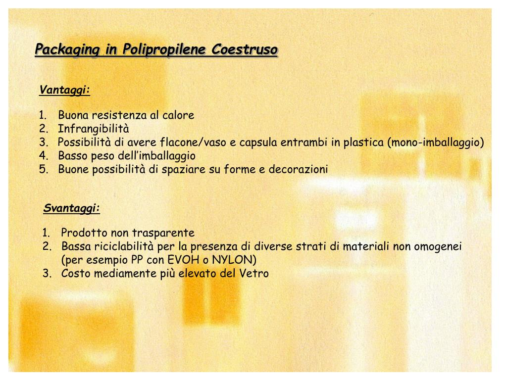 Packaging in Polipropilene Coestruso