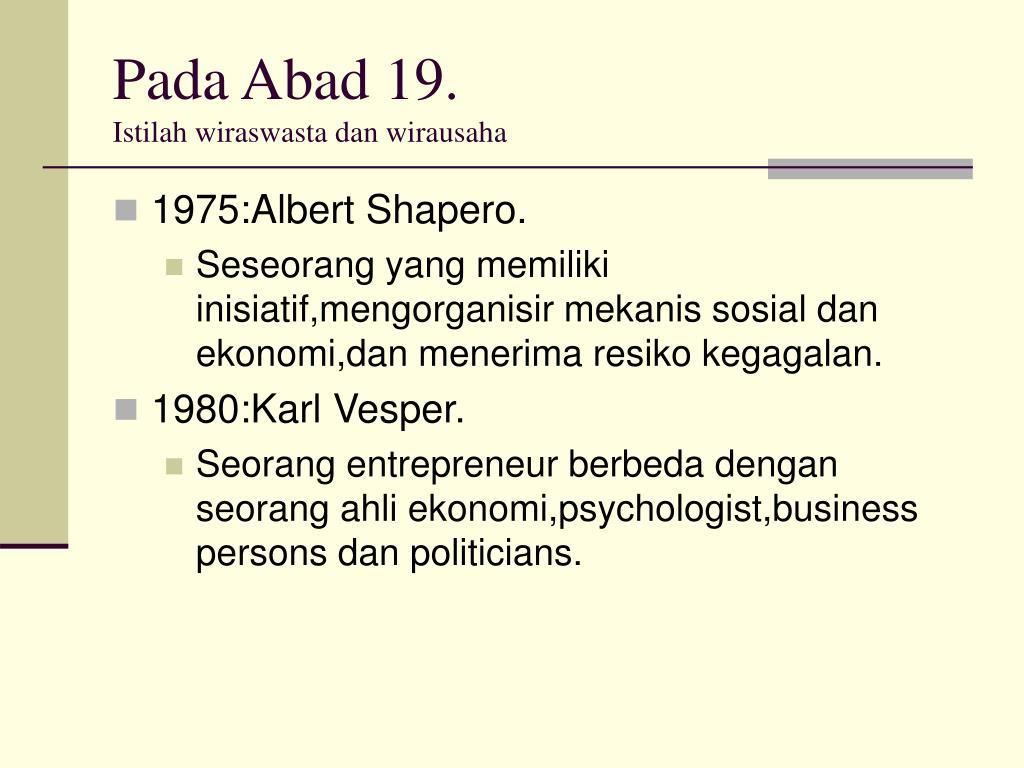 Pada Abad 19.
