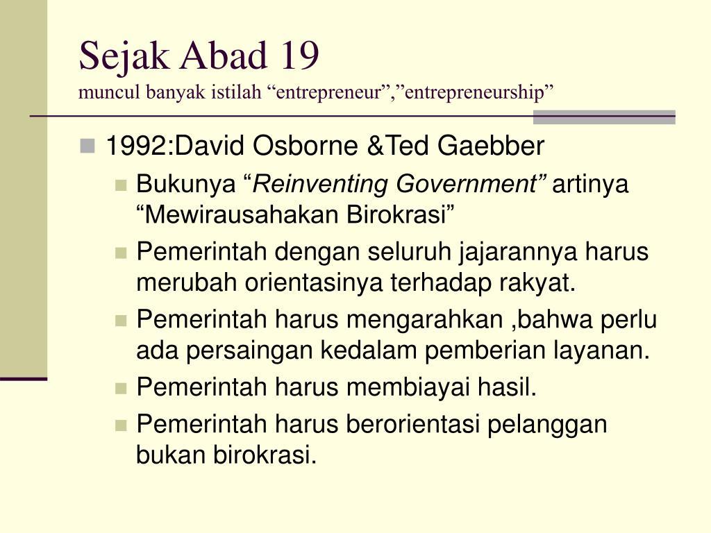 Sejak Abad 19