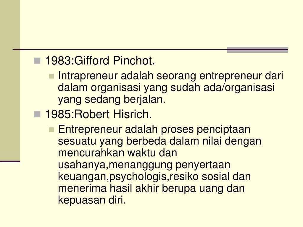 1983:Gifford Pinchot.