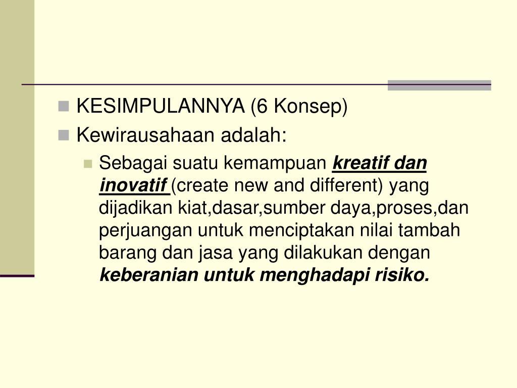 KESIMPULANNYA (6 Konsep)