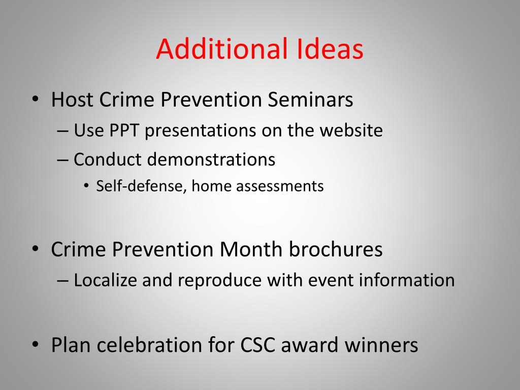 Additional Ideas