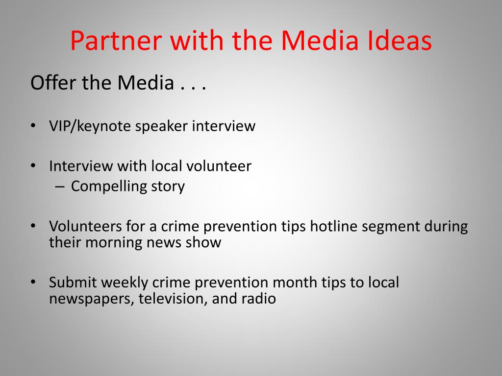 Partner with the Media Ideas