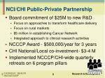 nci chi public private partnership