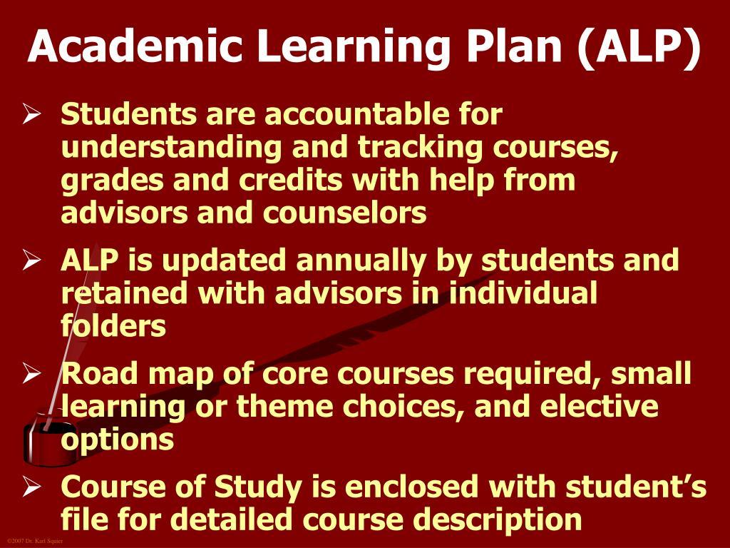 Academic Learning Plan (ALP)