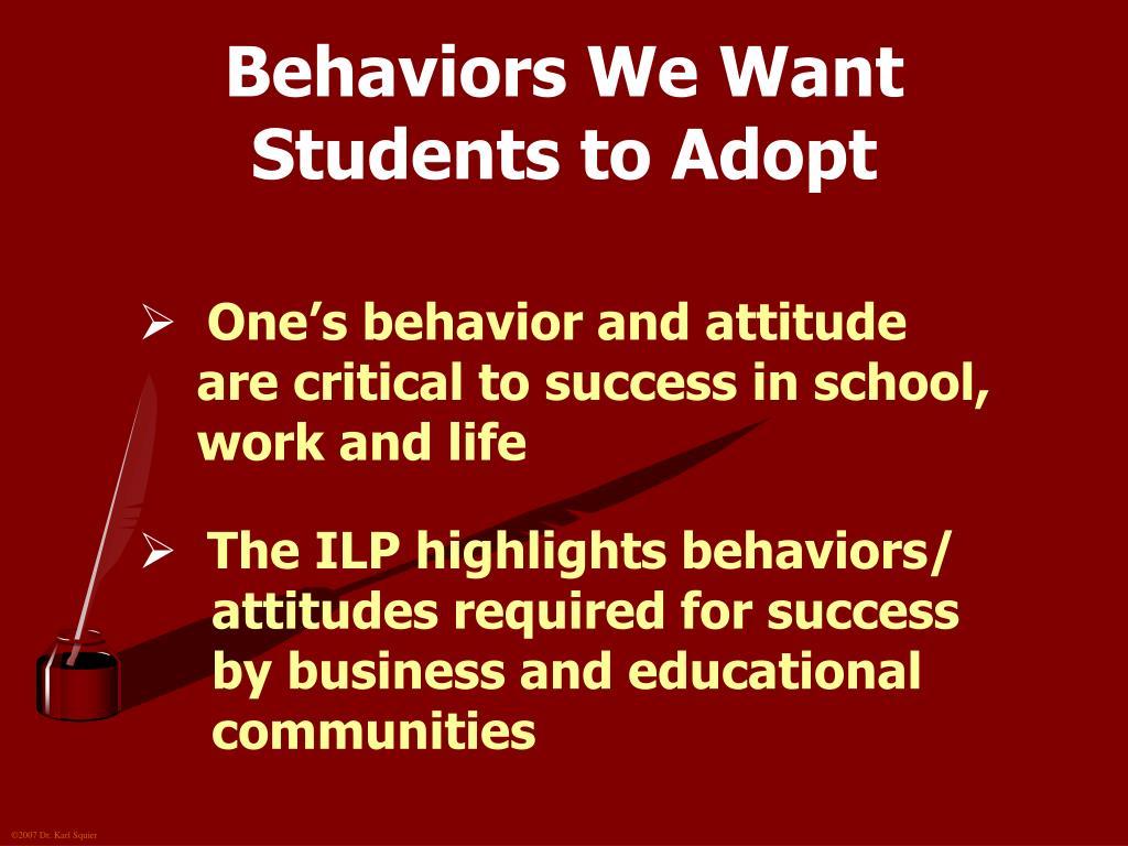 Behaviors We Want