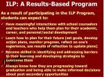 ilp a results based program
