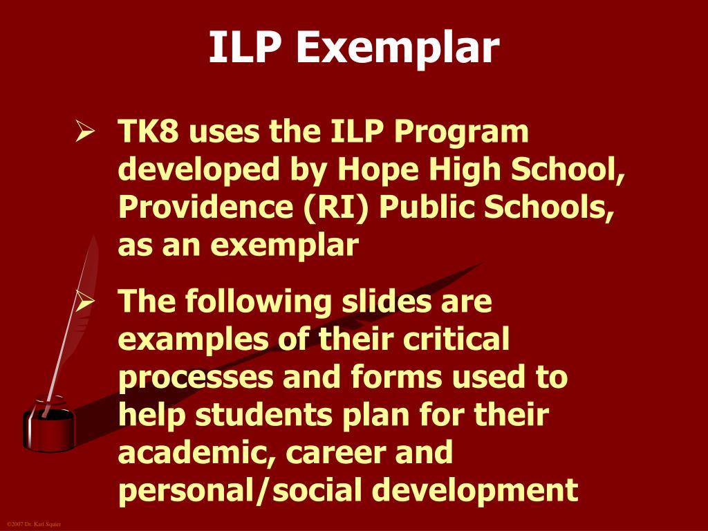 ILP Exemplar