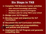 six steps in tk8