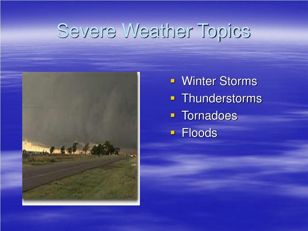 Severe Weather Topics