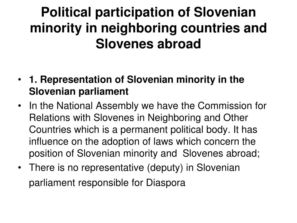 Political participation of Sloven