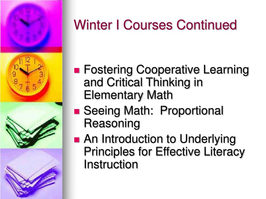 Winter I Courses Continued