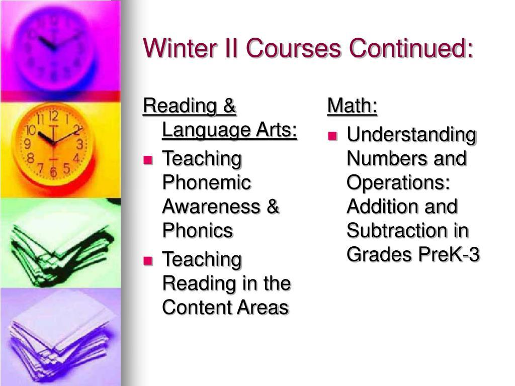 Reading & Language Arts: