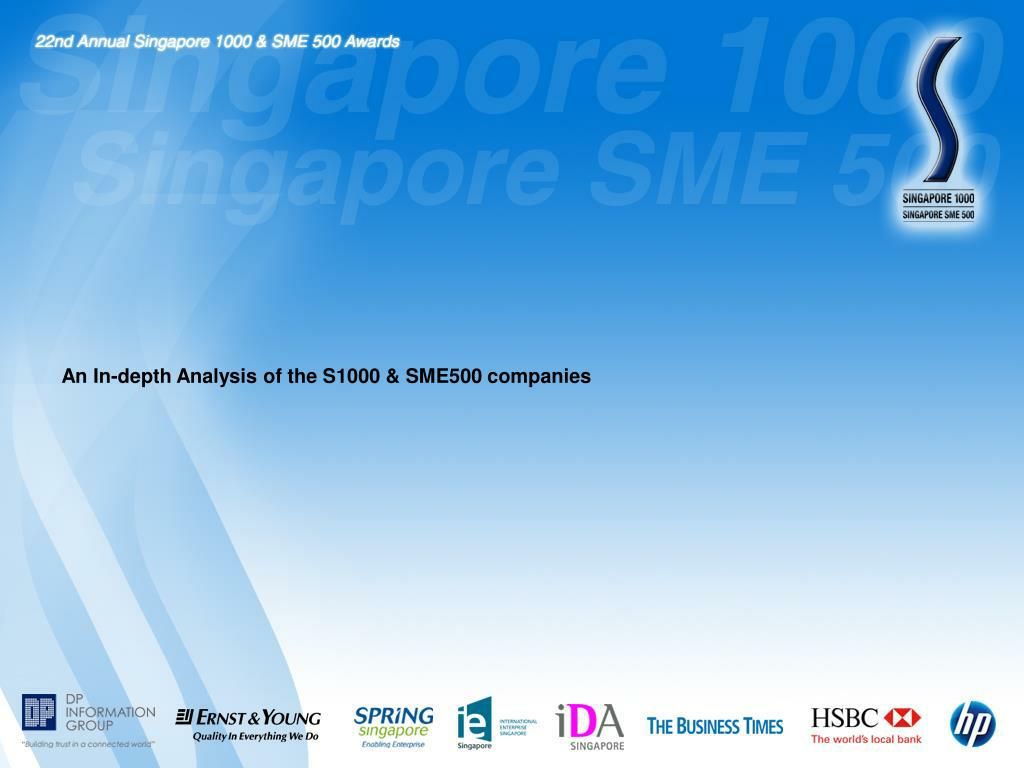 An In-depth Analysis of the S1000 & SME500 companies