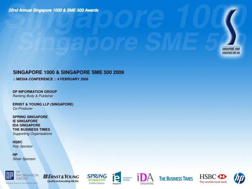 SINGAPORE 1000 & SINGAPORE SME 500 2009