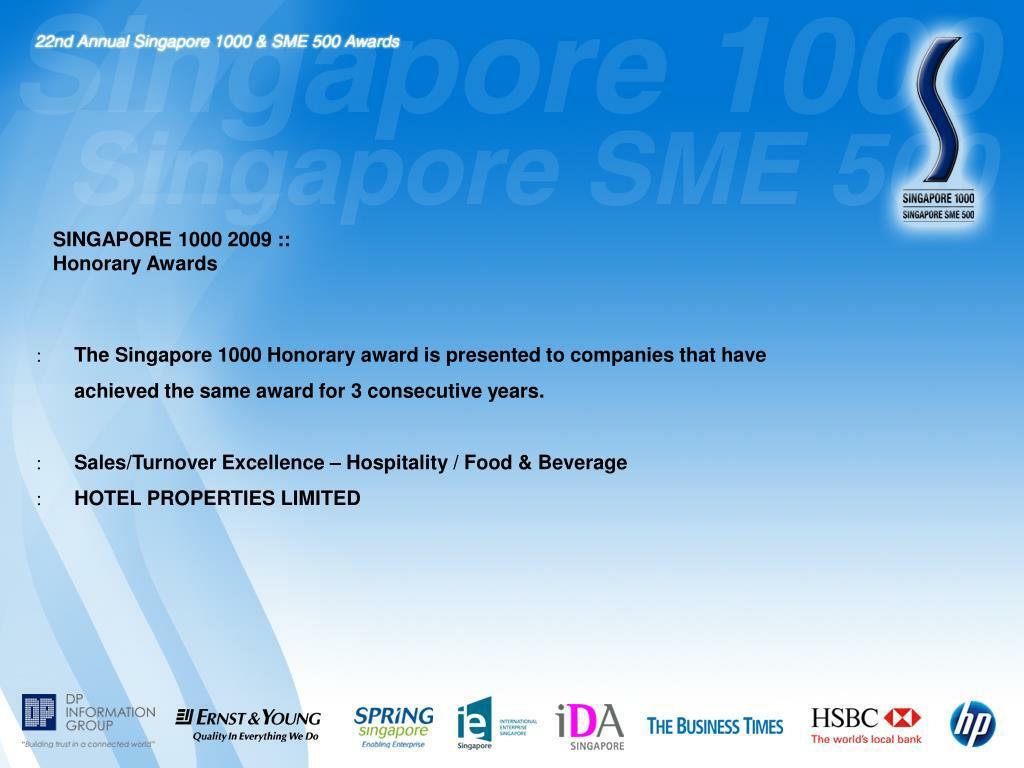 SINGAPORE 1000 2009 ::