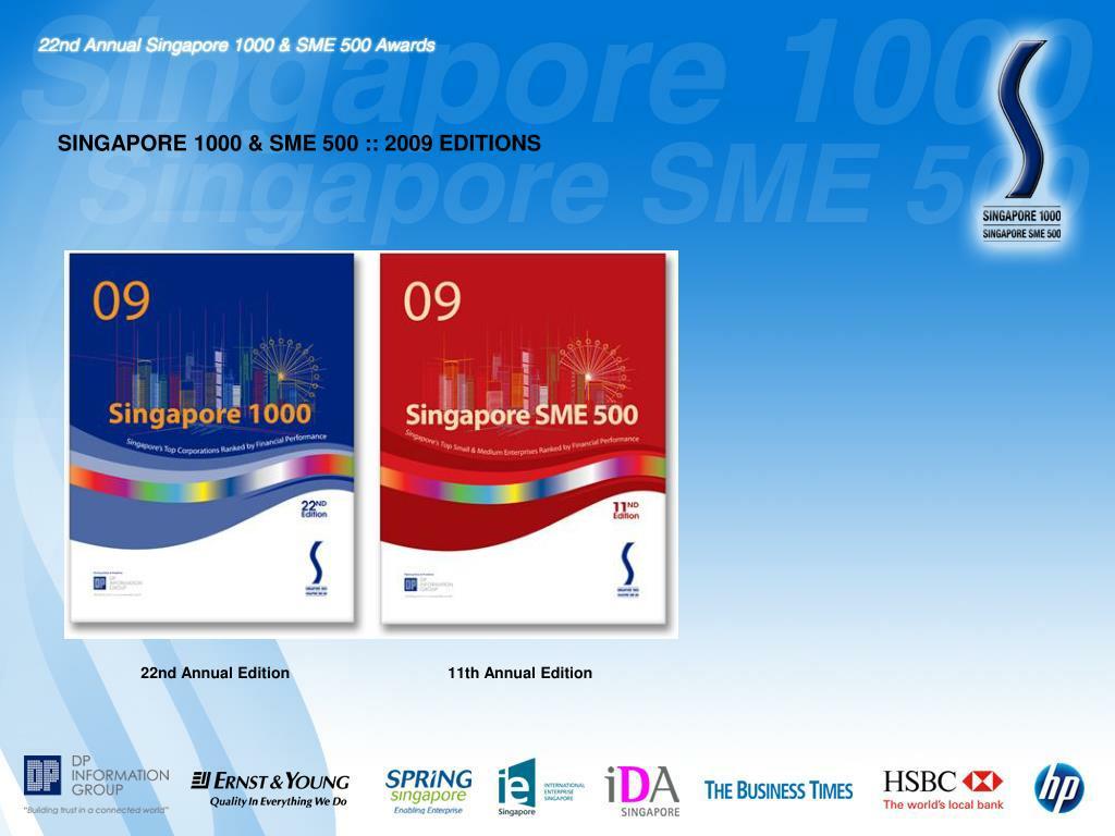 SINGAPORE 1000 & SME 500 :: 2009 EDITIONS