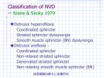 classification of nvd krane siroky 1979
