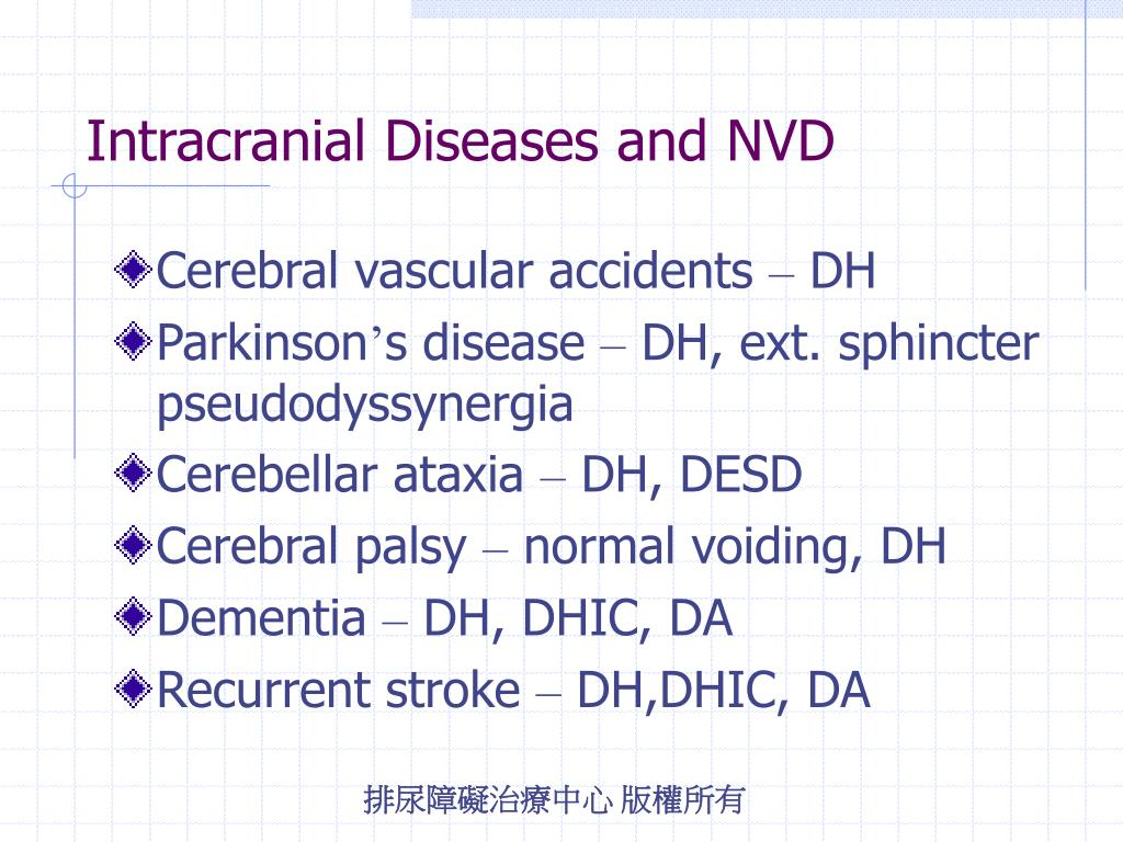 Intracranial Diseases and NVD